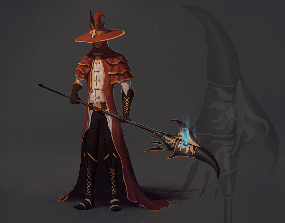 Blood mage concept art