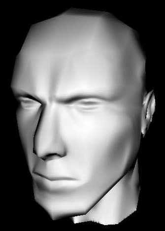 Модель головы с наложенной картой нормалей