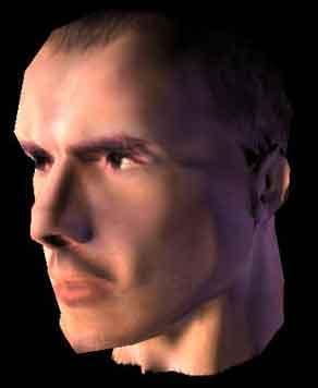 Low модель головы с картой нормали и diffuse текстурой
