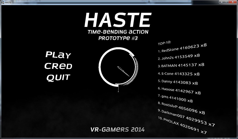 Безымянный | HASTE (Time-bending action) [||||......]