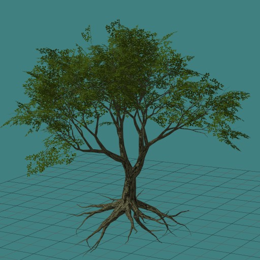 Flora3d - дерево с корнем | Flora3D 2016.12.09 (генератор растений)
