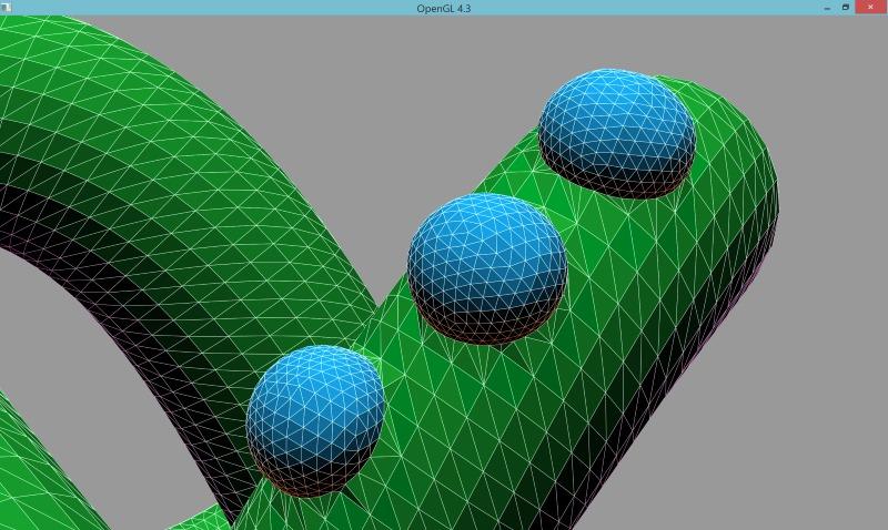 2 | Вставка одной поверхности в другую (многопоточный алгоритм)