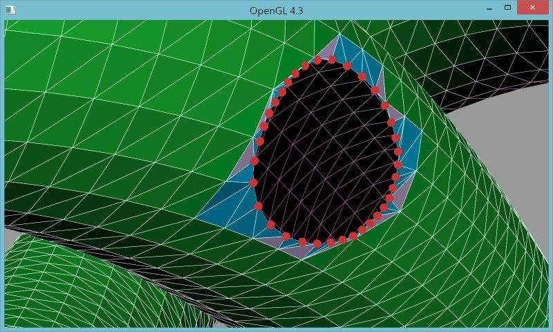 7 | Вставка одной поверхности в другую (многопоточный алгоритм)
