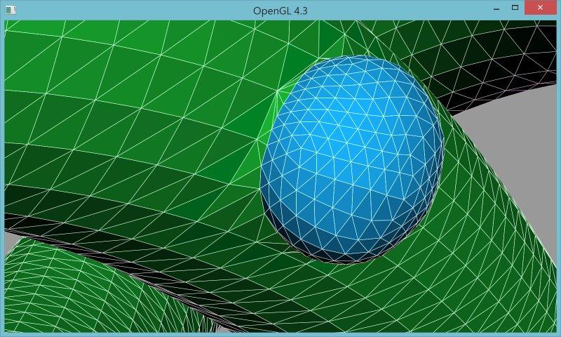 9 | Вставка одной поверхности в другую (многопоточный алгоритм)