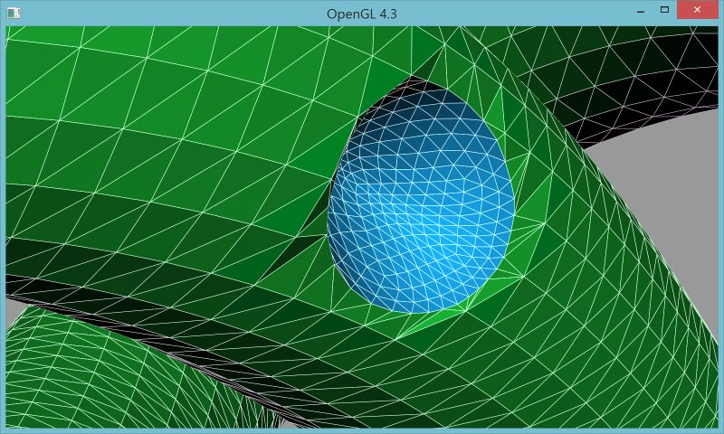 10 | Вставка одной поверхности в другую (многопоточный алгоритм)