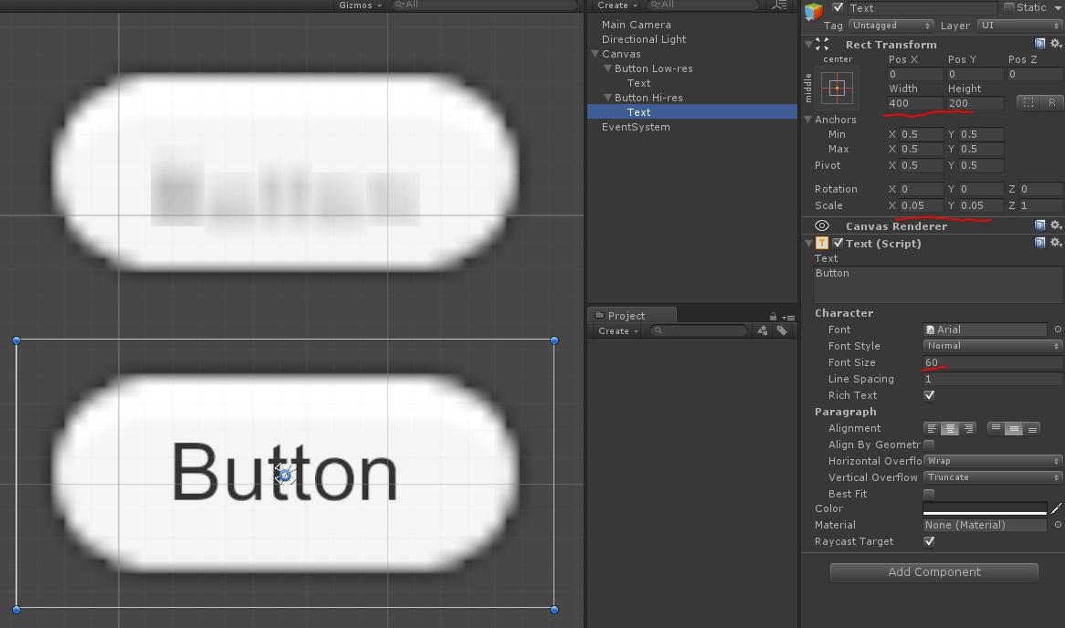 text | Unity UI