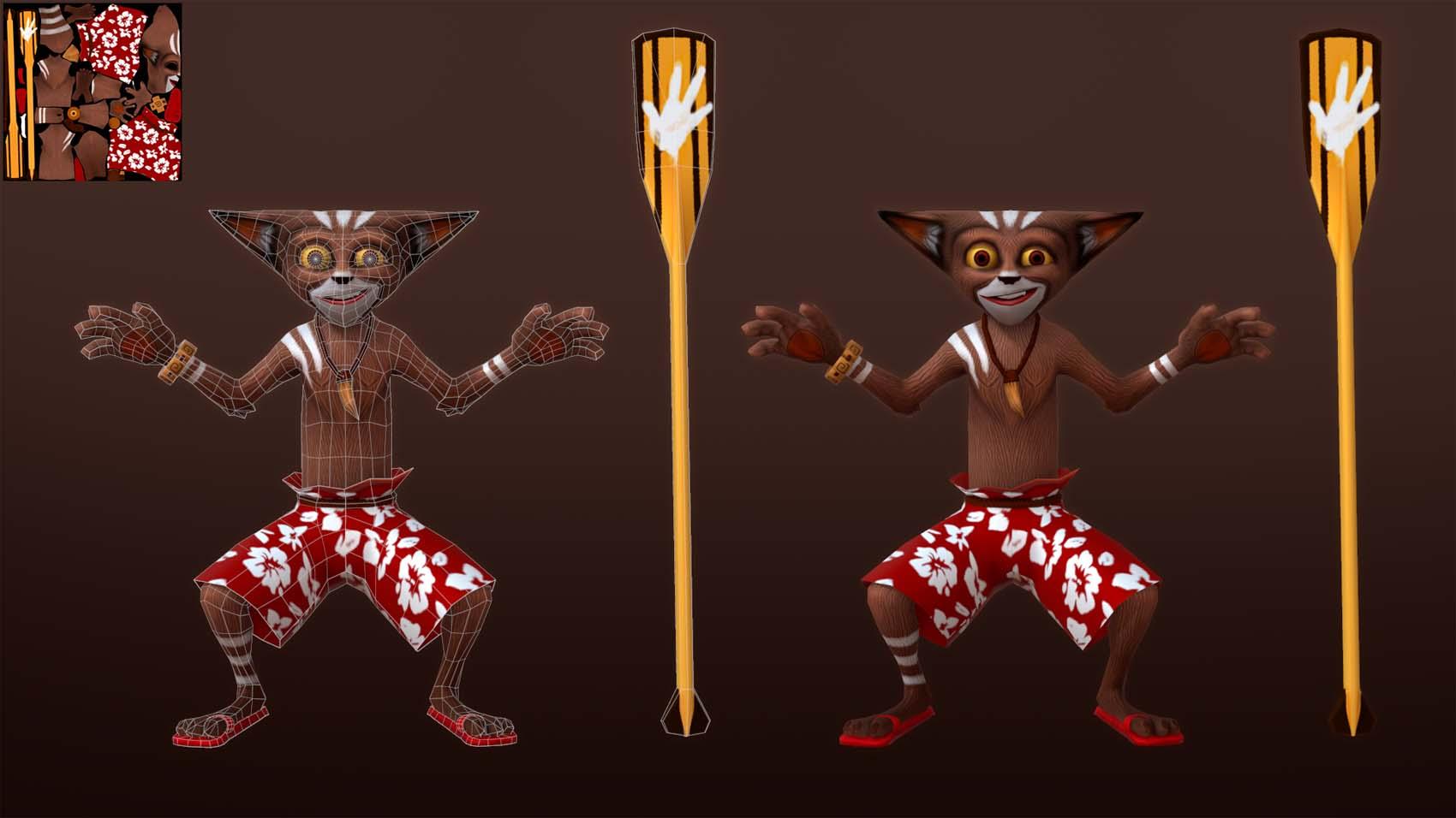 Lemur | 3D 2D Artist.Game Low-poly,sculpting (Персонажи,окружение и тд)