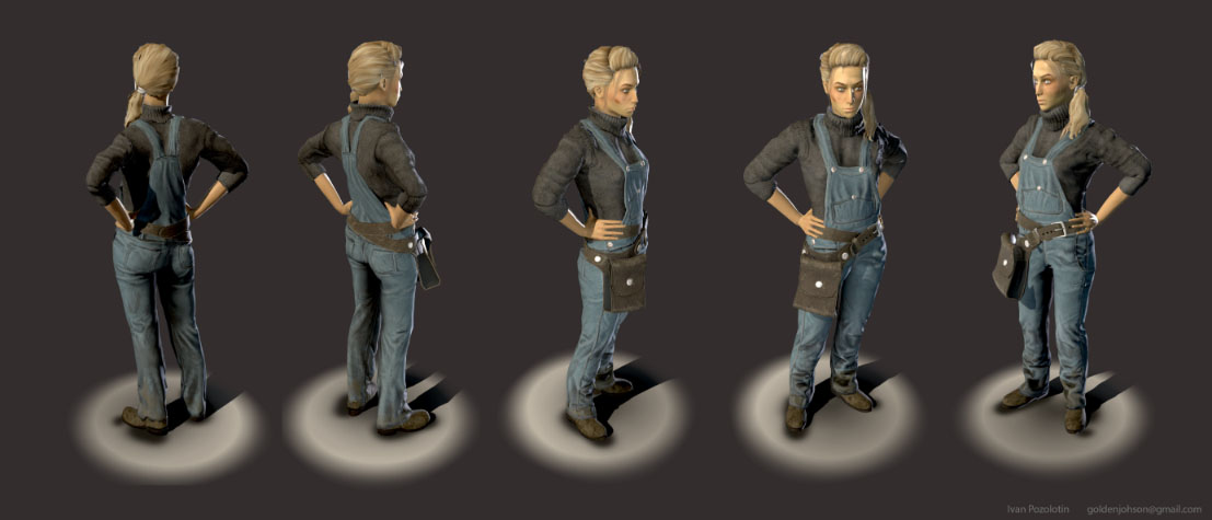 Sam the mechanic | 3D Artist / Character Artist