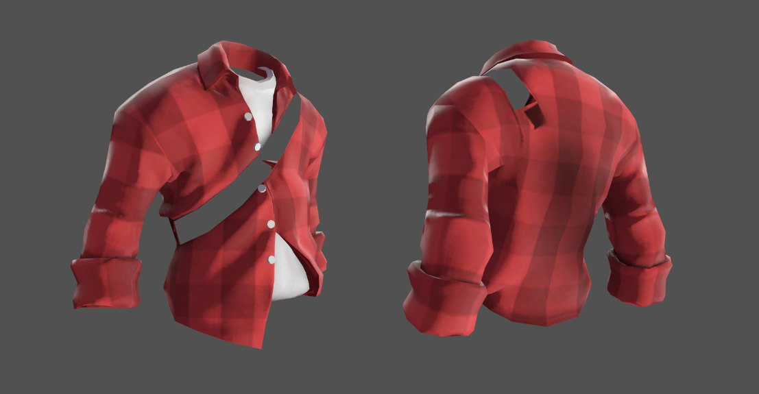 TF2 Scout Checkered Shirt | 3D Artist / Character Artist