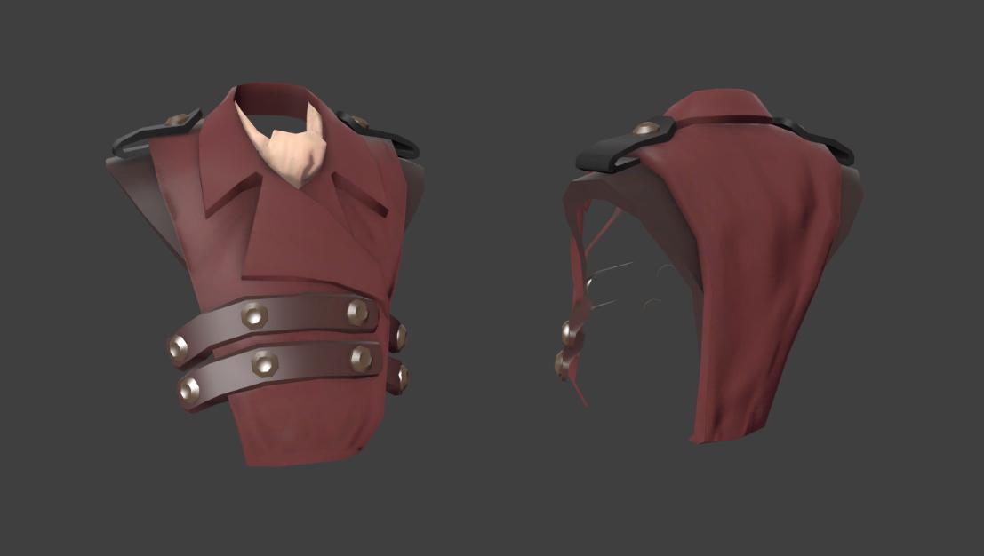 TF2 Engineer Steampunk Vest | 3D Artist / Character Artist