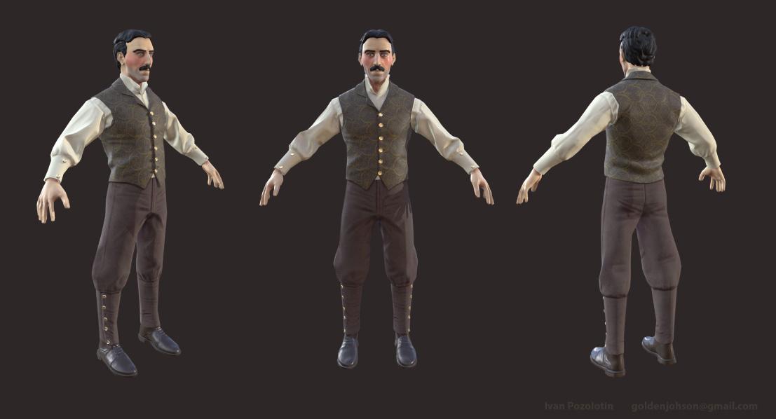 Nikola_Tesla 2 | 3D Artist / Character Artist