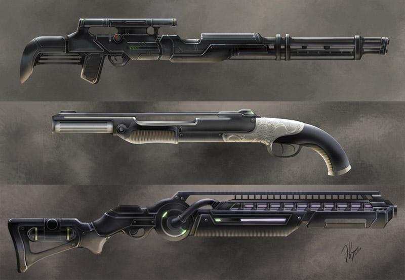 Sci-fi gun | ↪▶2D художник◀↩