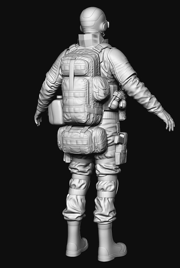 back | wip моделька солдата