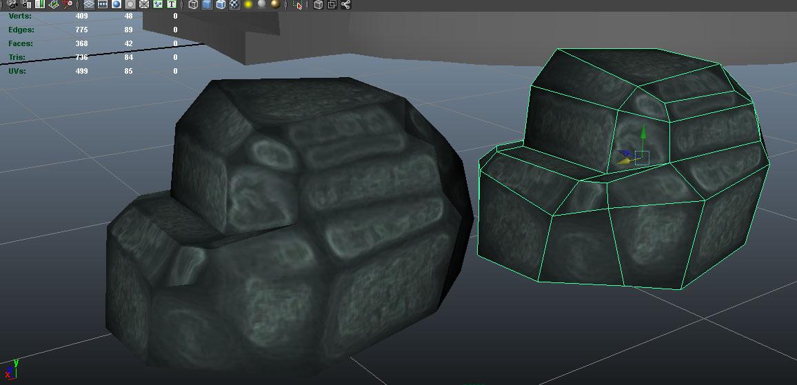 1-2 | Мой первый камень и текстура хэнпэинт.