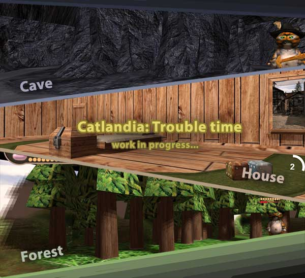 Catlandia: Trouble Time (early WIP #3)