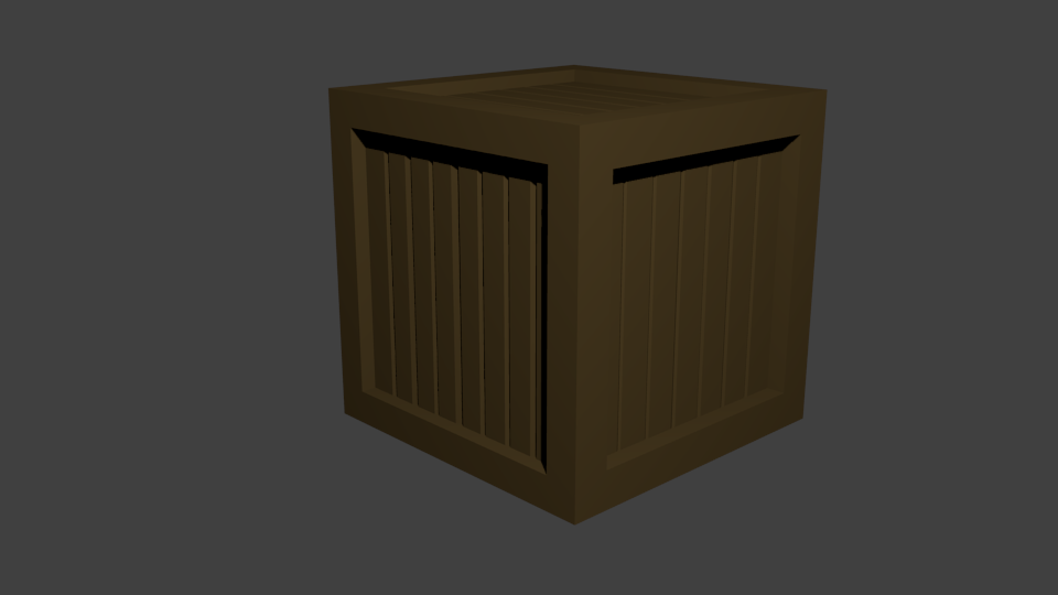 ящик | Простые модельки из нескольких кубиков