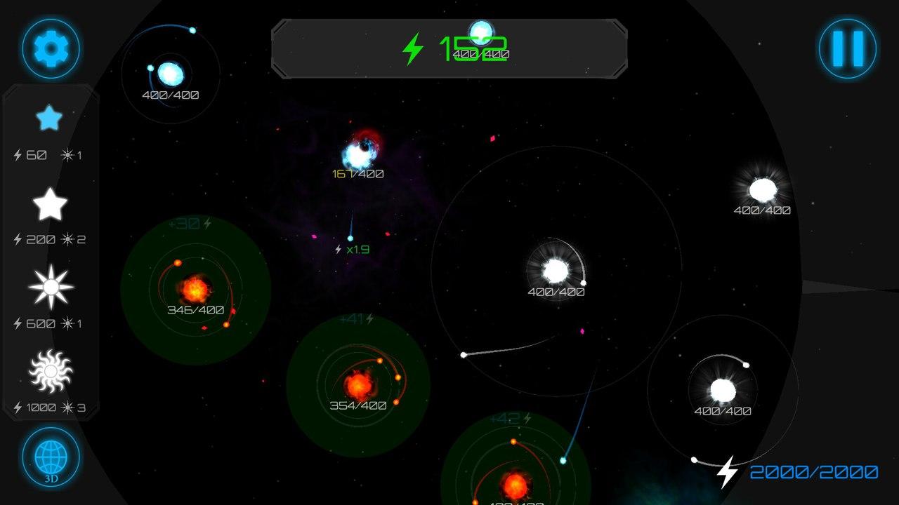 Gravity wars 1 | Gravity wars: стратегия с созданием галактик