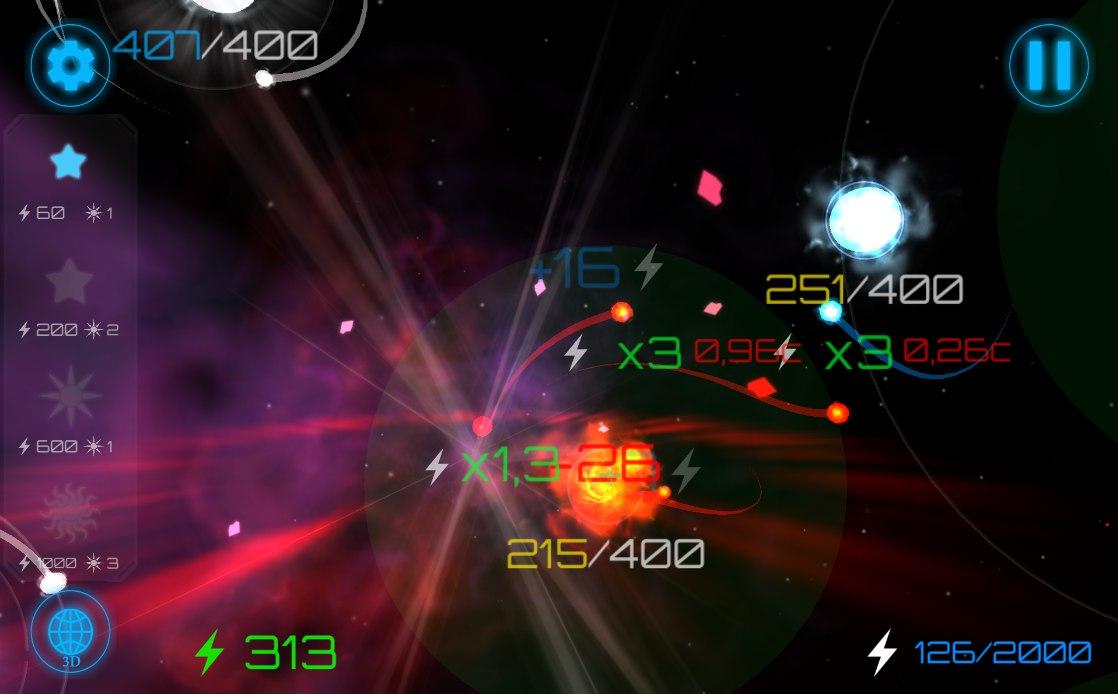 скрин3 | Gravity wars: стратегия с созданием галактик