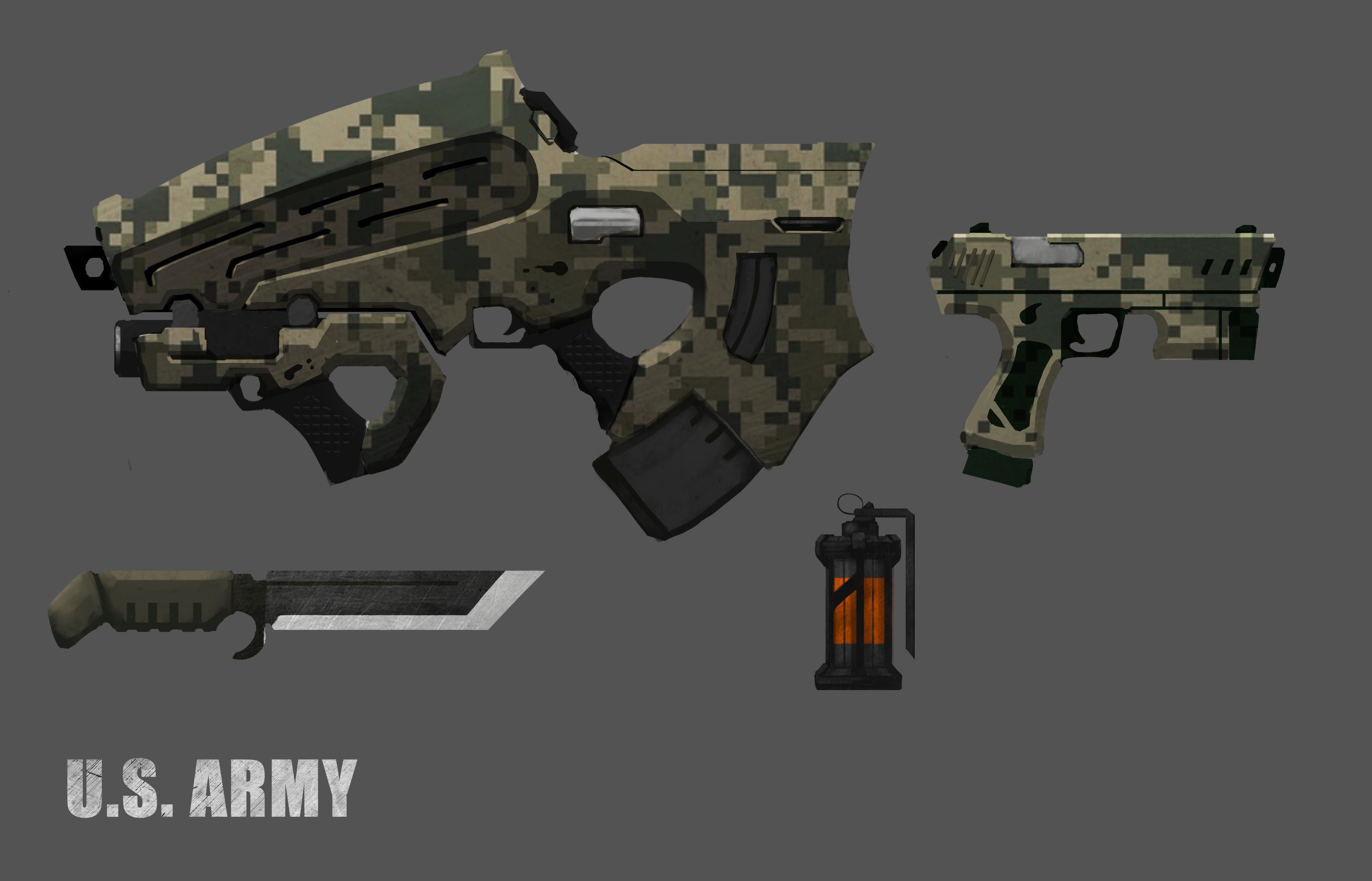 rifle | ▲ 2D Concept artist (Концепты, 2D анимации, Пропы, UI)