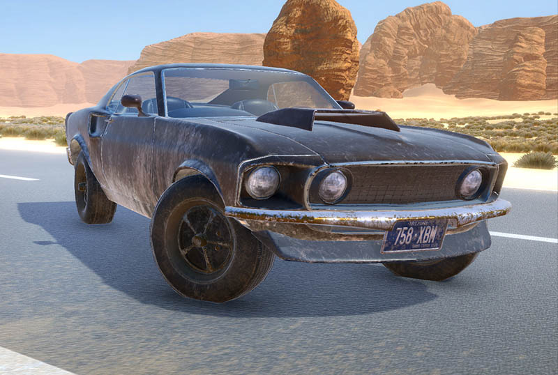 Mustang   3D моделлер HI-LOW poly