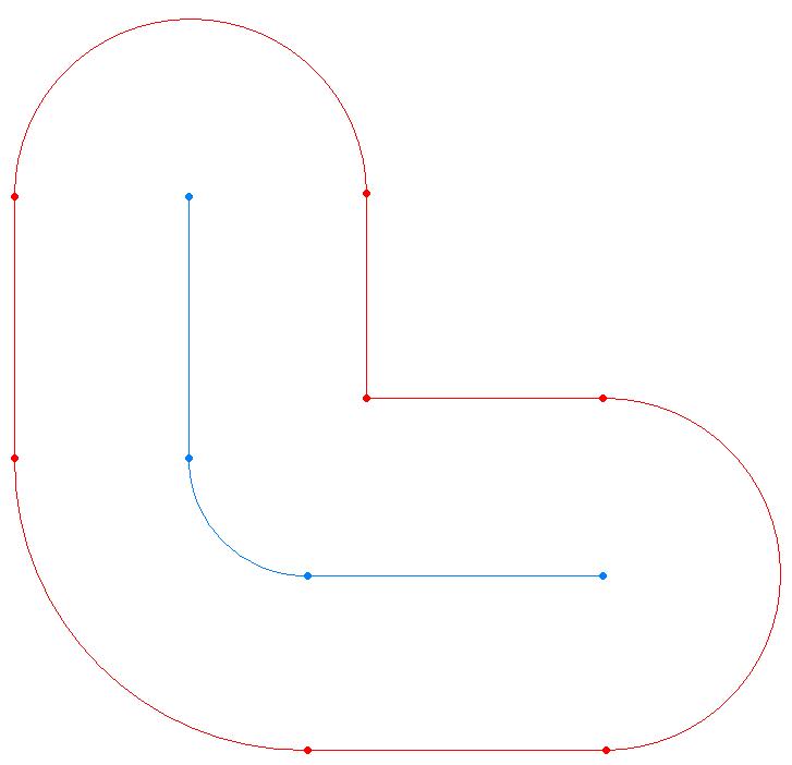 cntr | C# Смещенная кривая