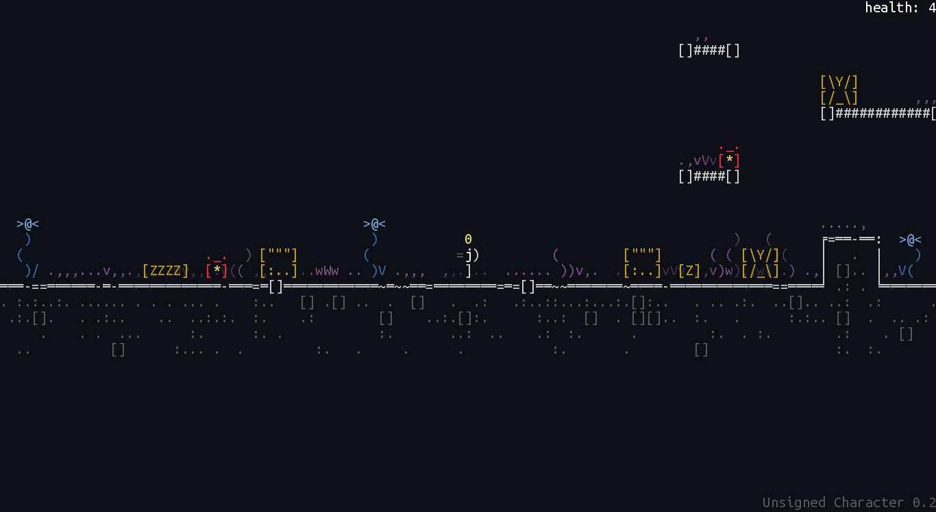 screen_2 | Unsigned Character  0.6.0 [ASCII-платформер с процедурной генерацией]