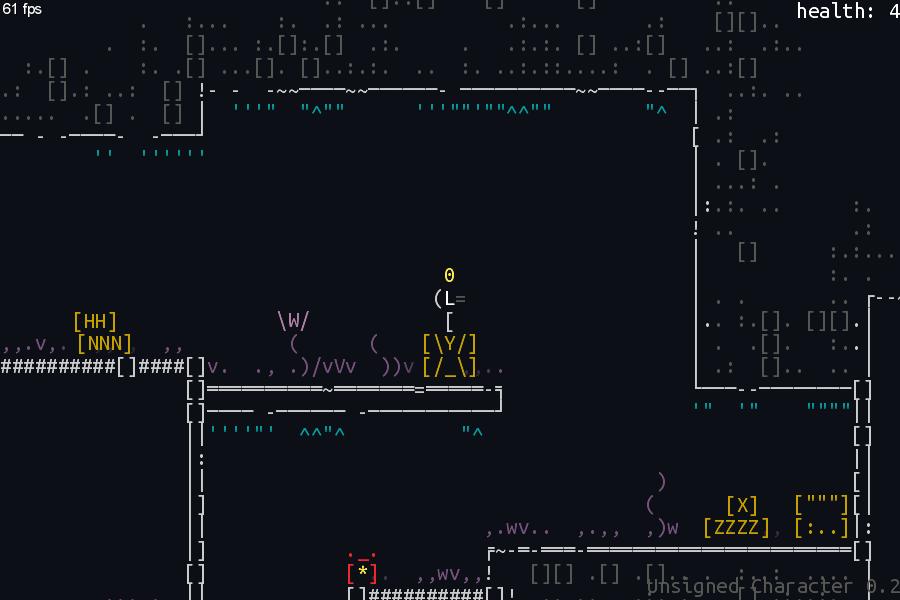 screen_7 | Unsigned Character  0.6.0 [ASCII-платформер с процедурной генерацией]