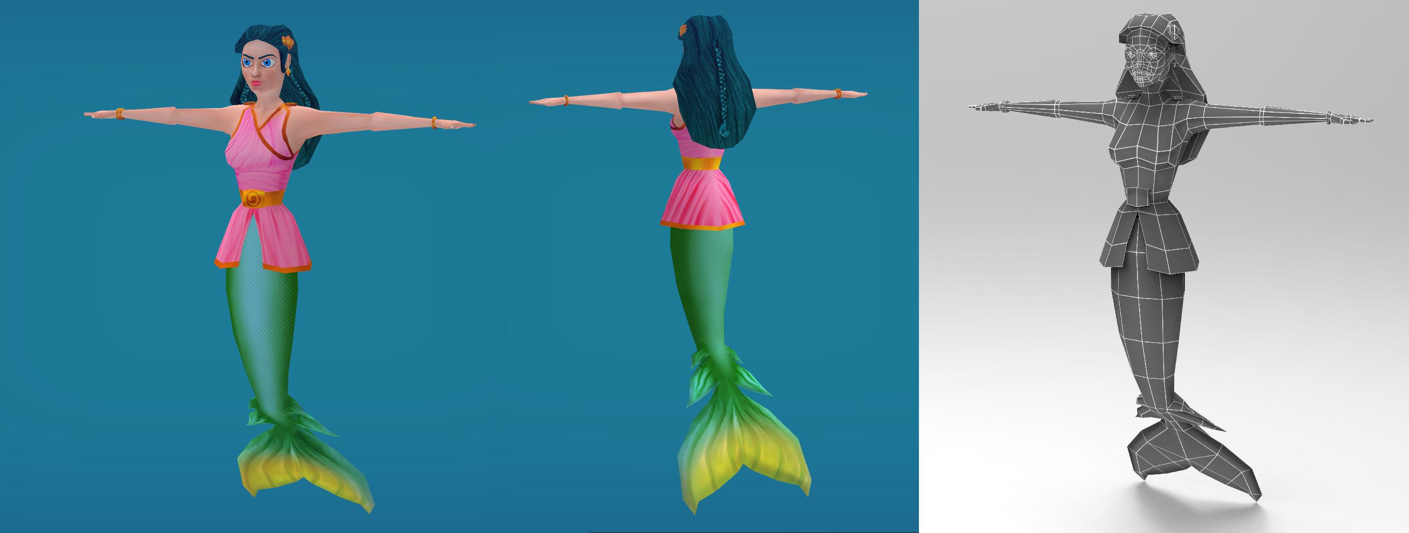 mermaid | 🎬 Видео ролики / Катсцены  / 3D модели / Анимация