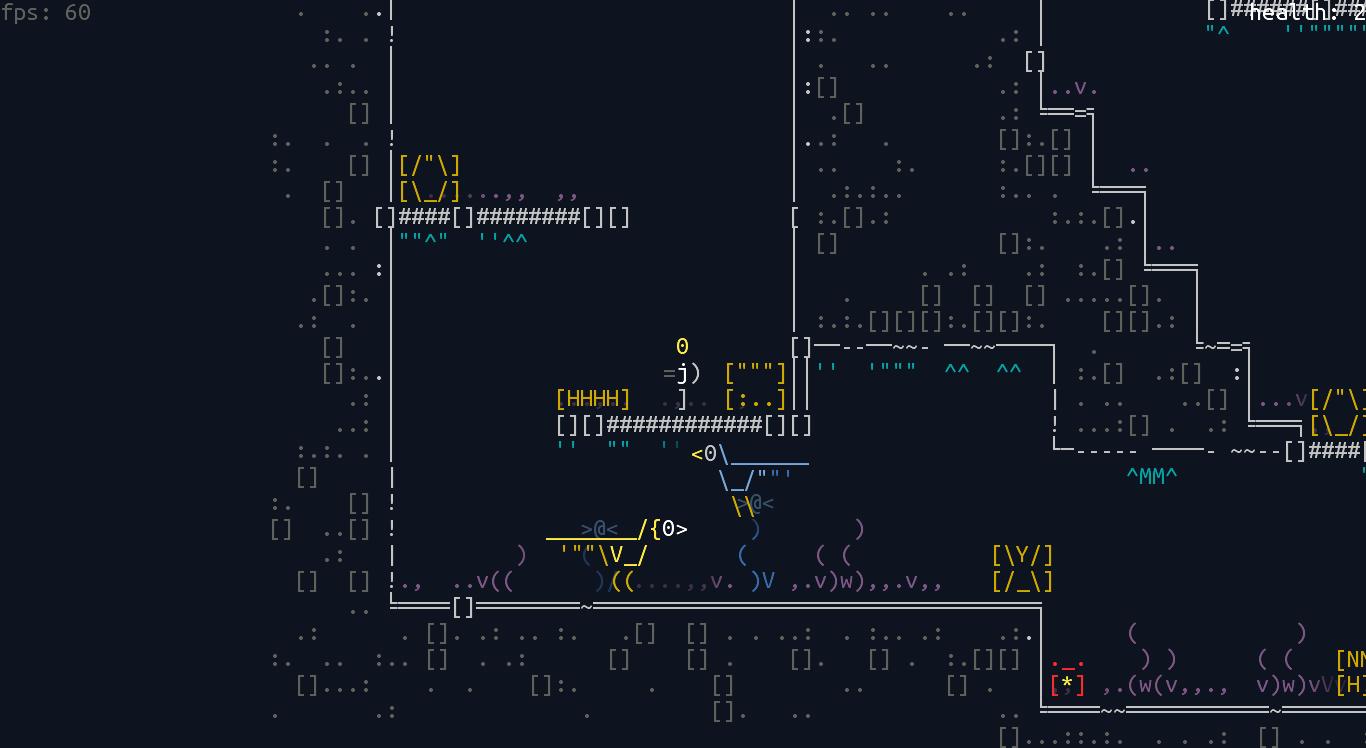 screen_5 | Unsigned Character  0.6.0 [ASCII-платформер с процедурной генерацией]