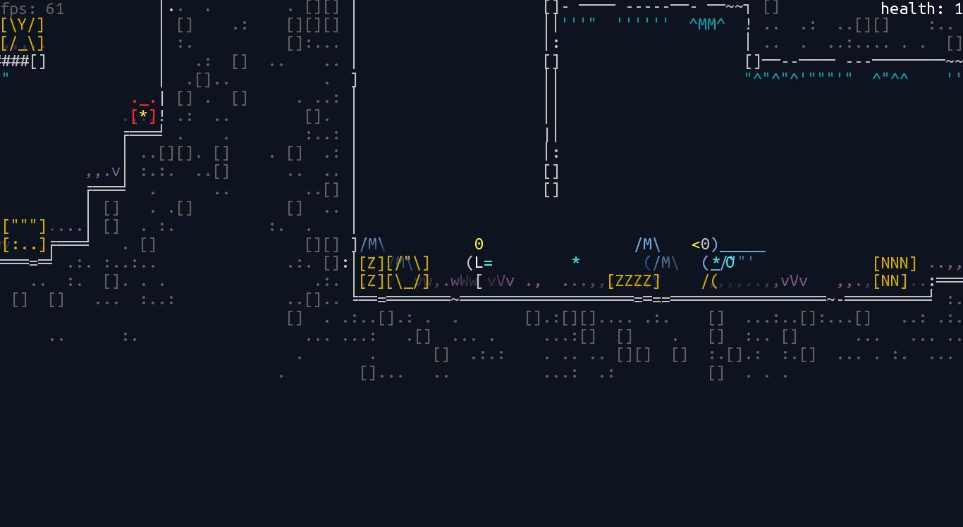 screen_6 | Unsigned Character  0.6.0 [ASCII-платформер с процедурной генерацией]