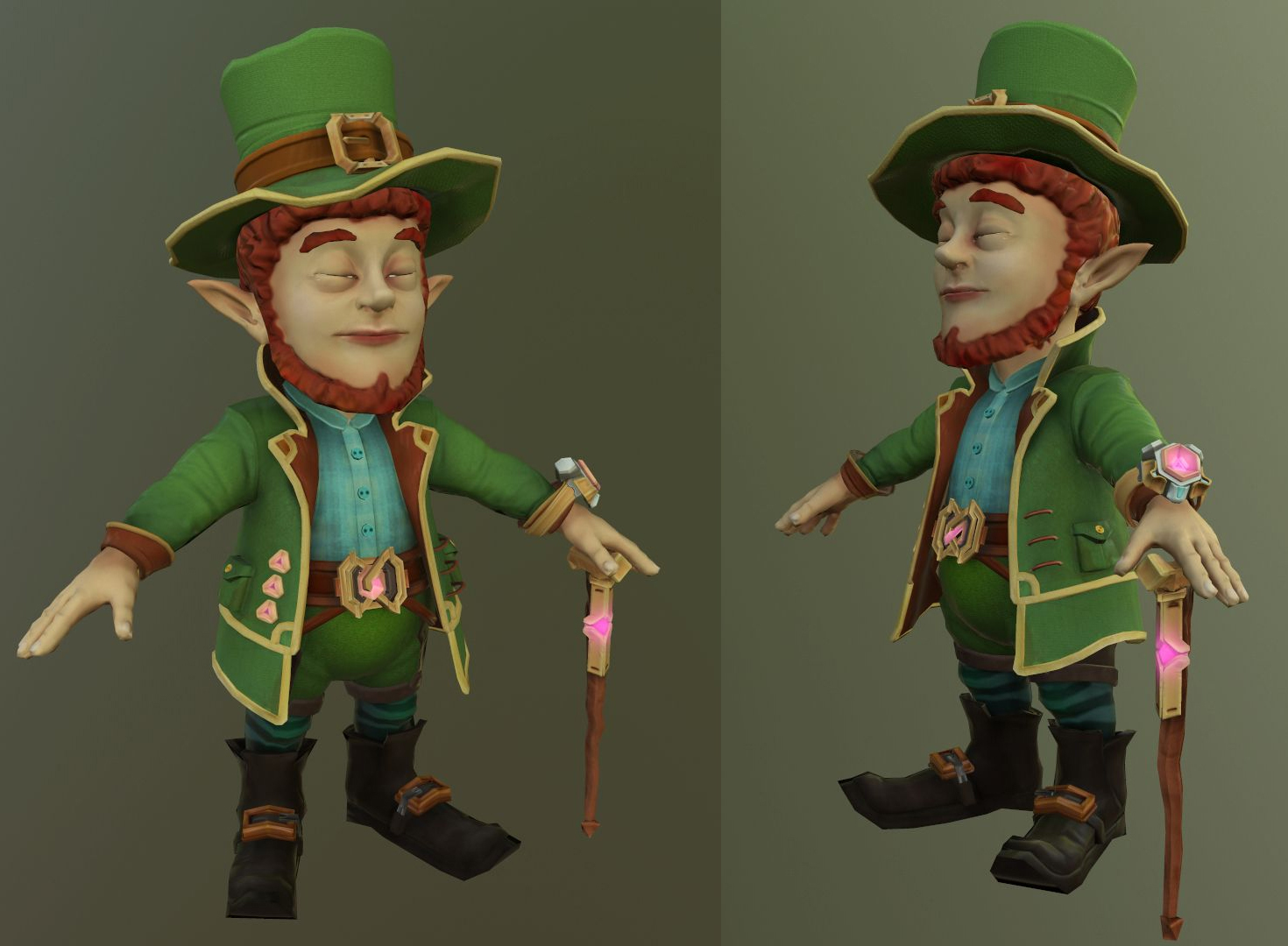 Leprechau_low | 3D artist
