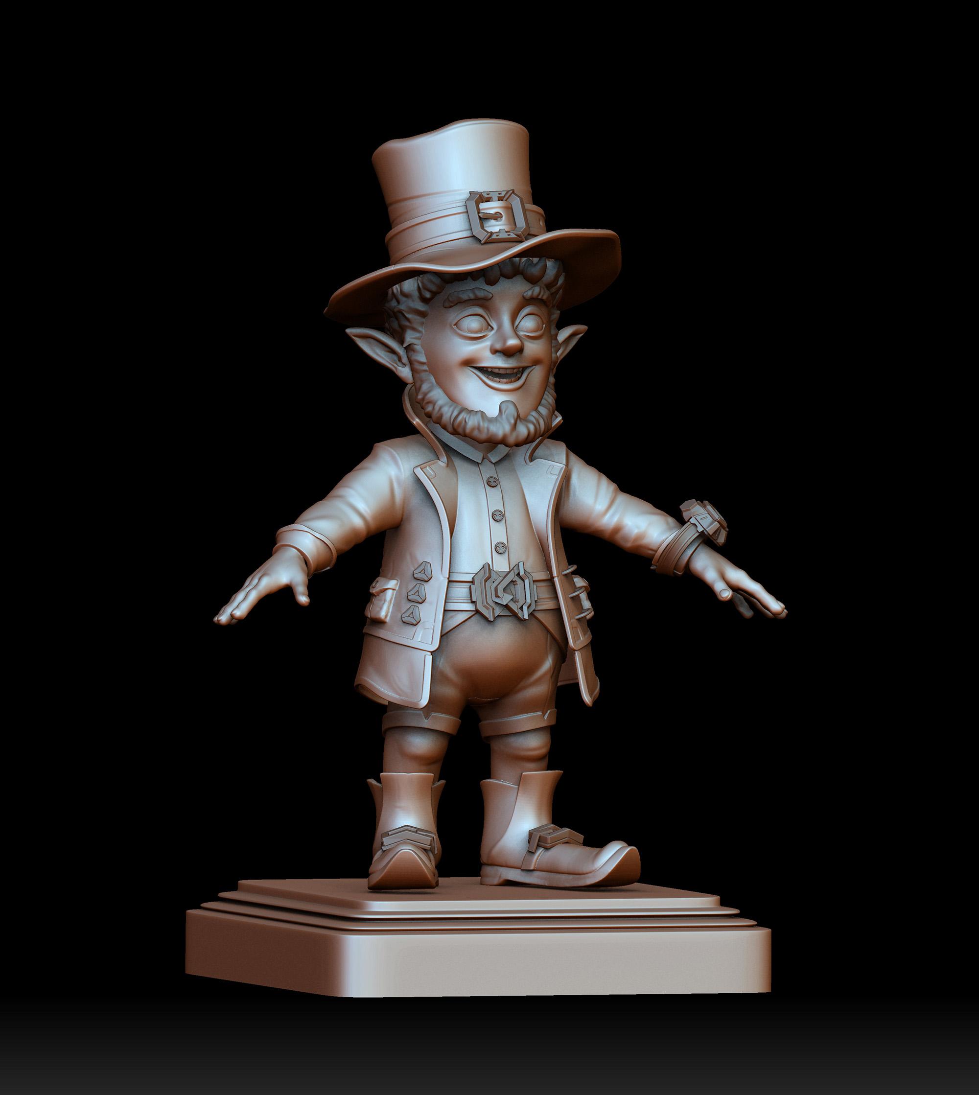Leprechau_postament | 3D artist