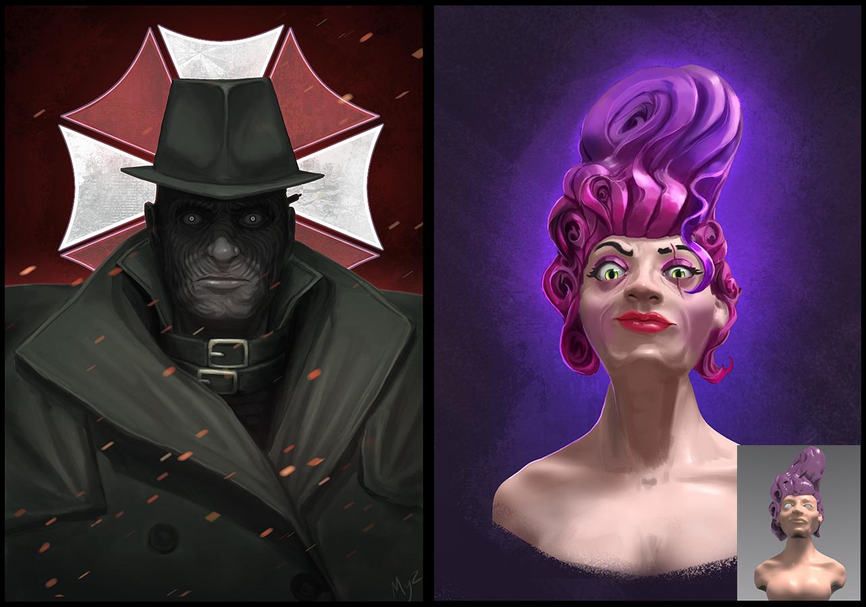 Faces | Концепт-художник. Разные стили. 2D (в основном) + 3D (изредка)
