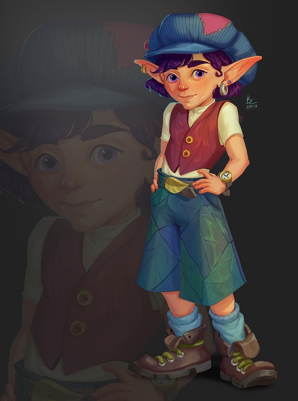 elf | Концепт-арт, 2D художник, фриланс