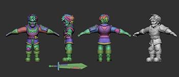 011 | Скачиваемые 3D модели стилизованных персонажей