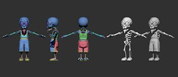 022 | Скачиваемые 3D модели стилизованных персонажей