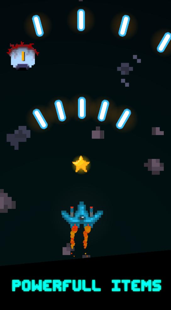 screen2 | [2D, Android] Pixel Space Blast - космический скролл-шутер