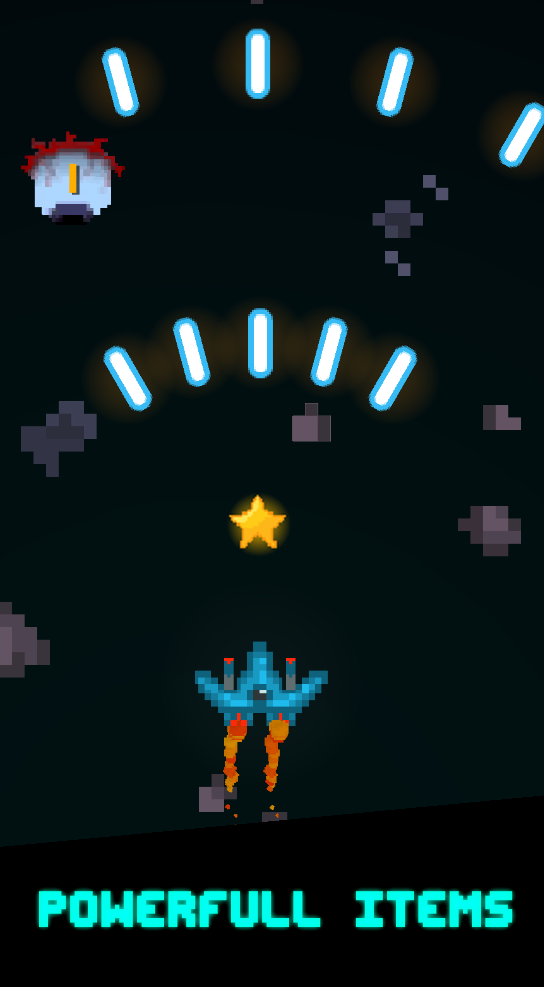 screen4 | [2D, Android] Pixel Space Blast - космический скролл-шутер