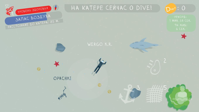 Скриншот игры DIVE 1 | DIVE: Жадность, страх, боль...