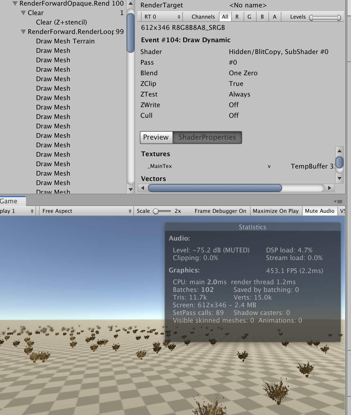 --- | Unity3D grass: проблемы с производительностью