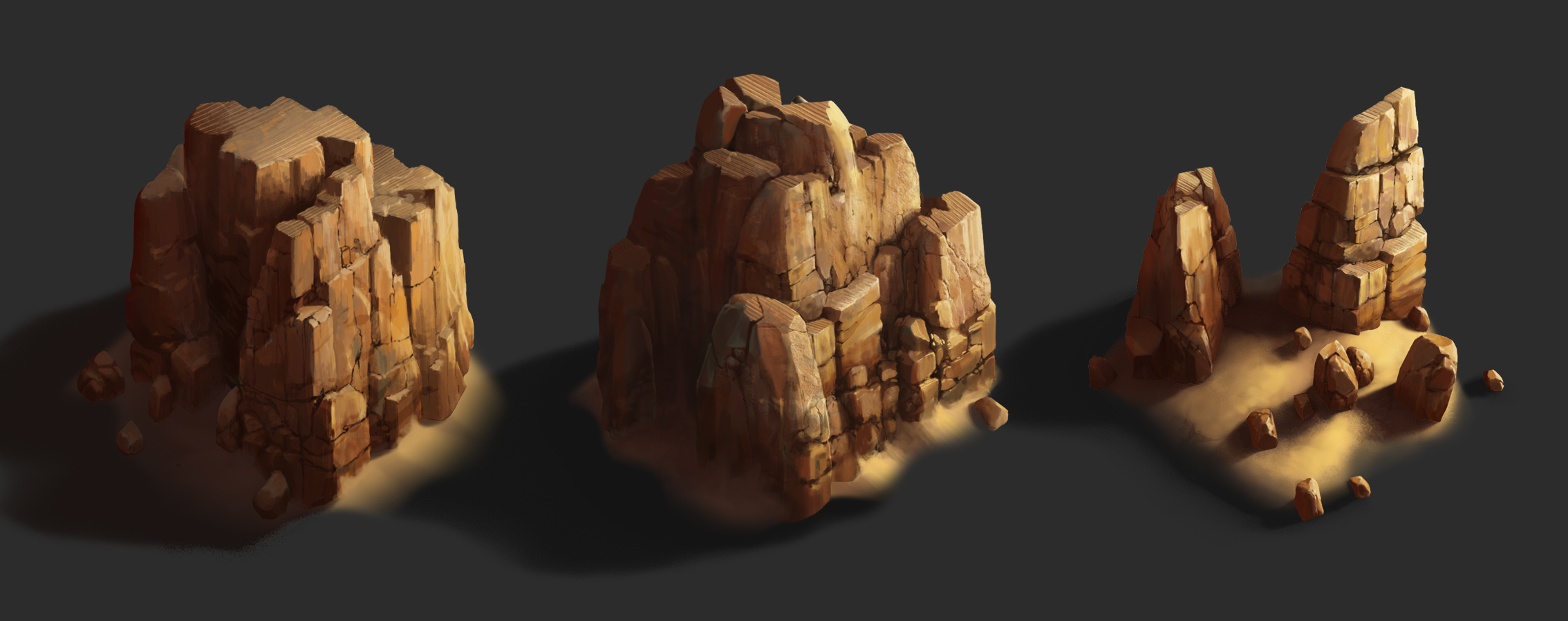 Rock_01 | ✏️2D/3D Environment Artist PRG/Action/RTS/Moba/Isometric