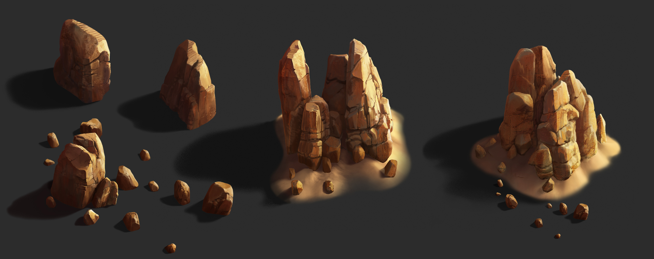 Rock_02 | ✏️2D/3D Environment Artist PRG/Action/RTS/Moba/Isometric