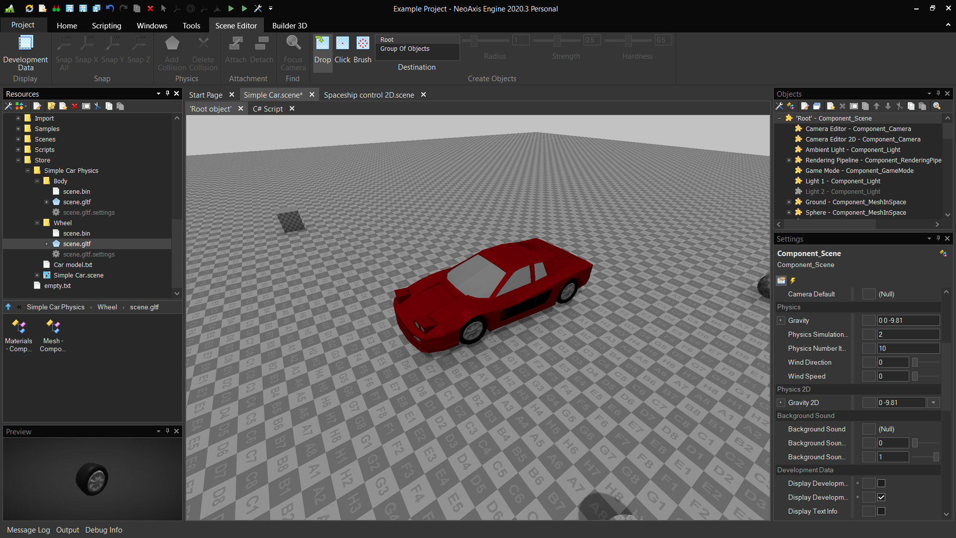 NeoAxis Engine: Simple Car Physics | Вышел NeoAxis Engine 2020.3 (теперь open source)