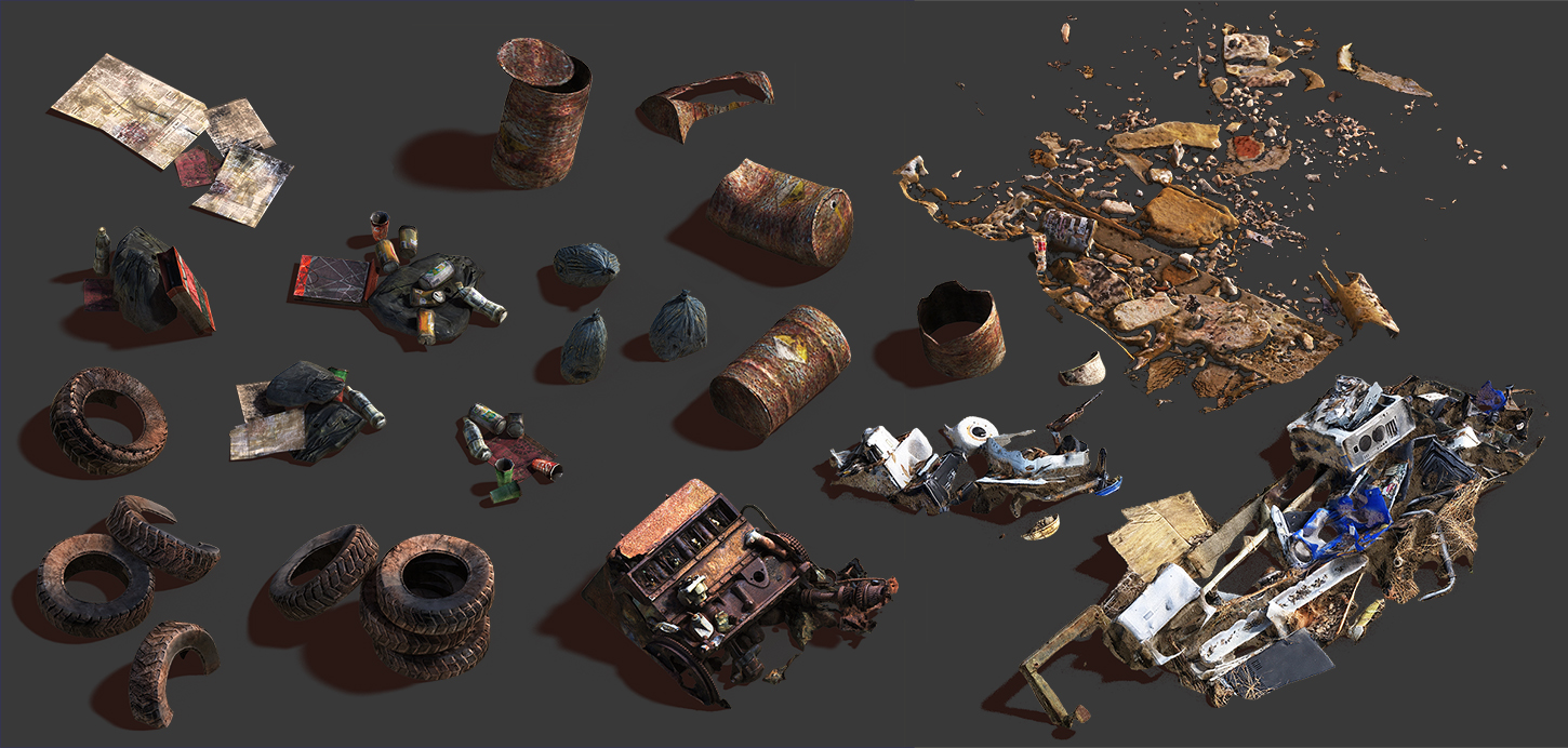 Trash_01_low | ✏️2D/3D Environment Artist PRG/Action/RTS/Moba/Isometric