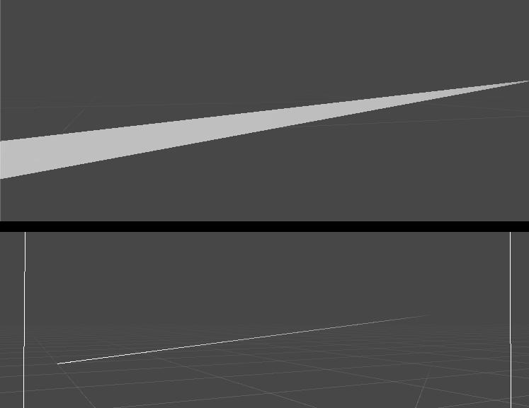 lines | Артефакты интерполяции у узких треугольников на радеонах (или нет)