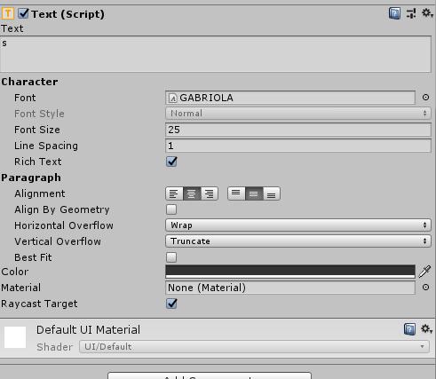 a | Неправильно отображается текст UI Unity