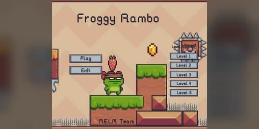 """1   Забавная игра про Лягуха, """"Froggy Rambo"""""""