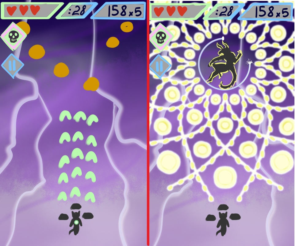 Gala AndroidVisual   Gala - Furry Danmaku Game (рабочее названиее)