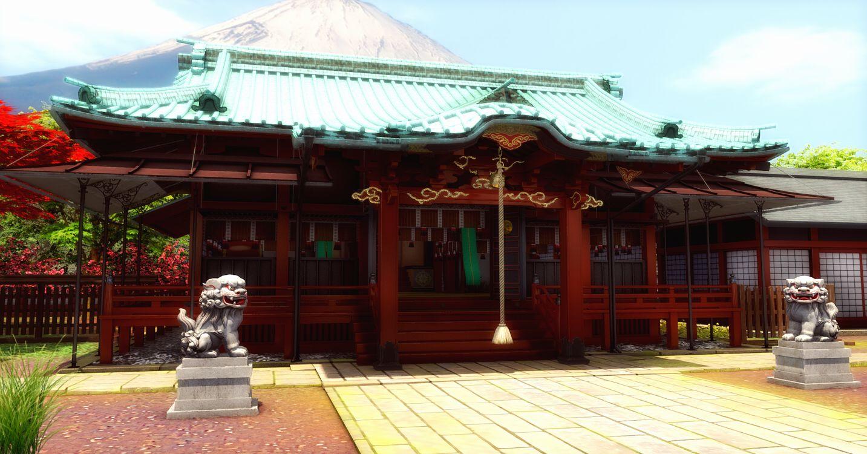 храм из какого-то аниме | Погроммист рисуЭ