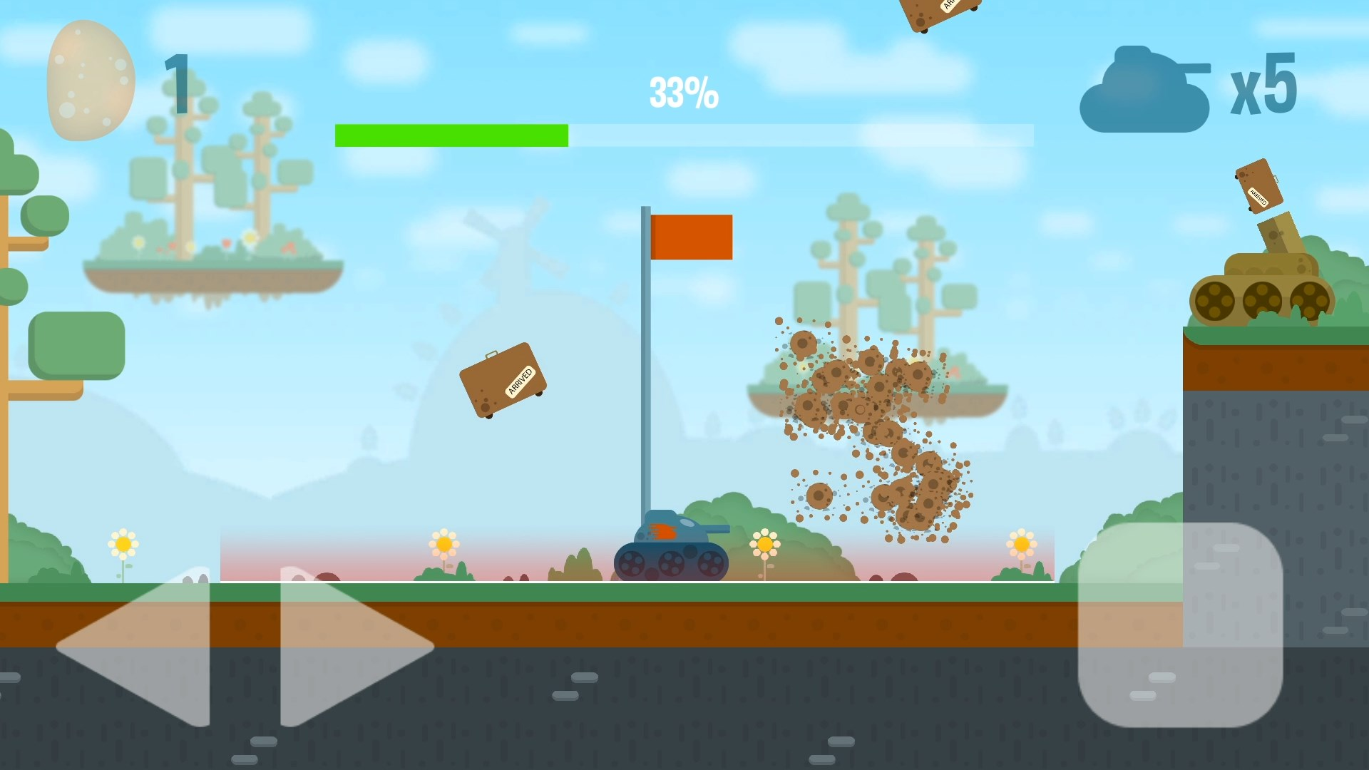 Potatoes Tank скриншоты | Potatoes Tank - хадкорный платформер
